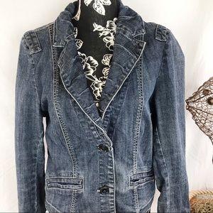 CAbi jeans. Jean jacket sz L